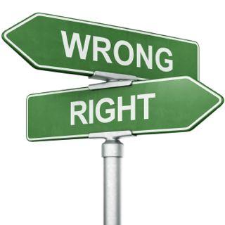wrong way arrow